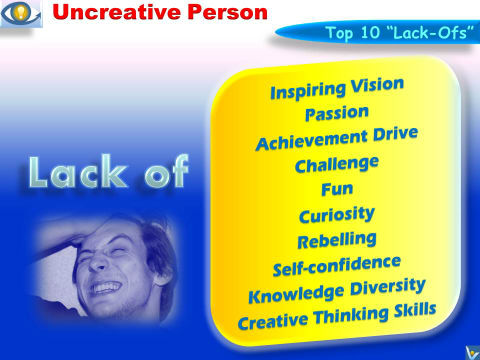 Uncreative Person: Barriers To Creativity