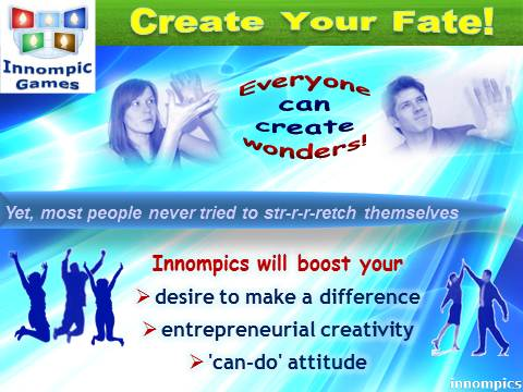 Innompics - Innompic Web Games - Create Your Fate - Boost your entrepreneurial creativity and can-do attitude, make a difference
