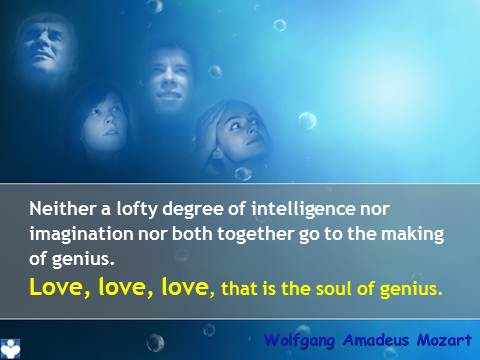 Mozart quotes - Genius Love